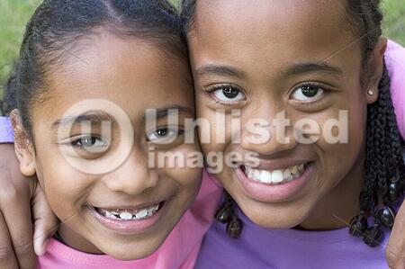 Smiling children friends