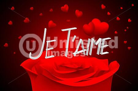 3D Jet T'aime - I Love You - French | Stock Photos