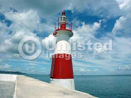 A lighthouse in the Ribeira, Salvador de Bahia - Brazil