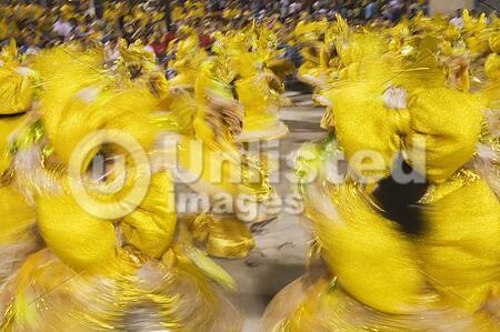 Carnaval parade at the Sambodromo, Rio de Janeiro Brazil