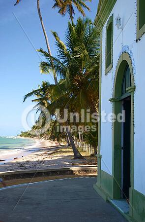 Church in a tropical beach in Brazil