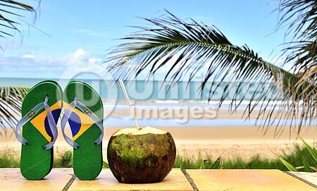 Brazilian flip-flop on the beach in Brazil