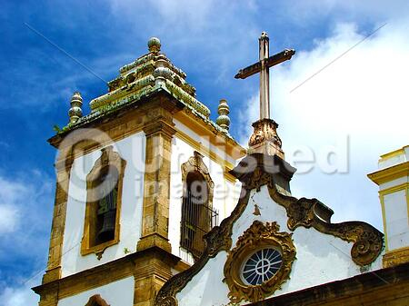 historical church of lord of bonfim in the city of salvador - brazil