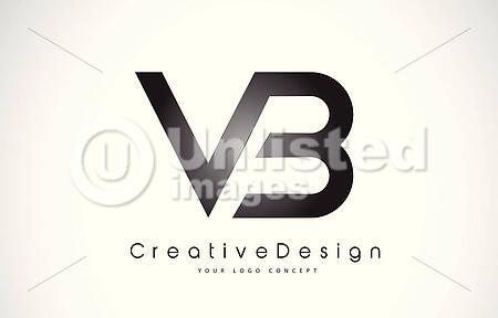 vb v b letter logo design creative icon modern letters vector logo