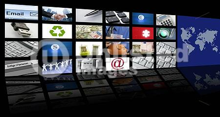 video tv screen technology and communication background