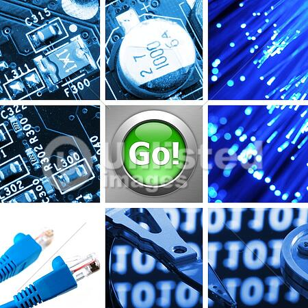 collage or collection of computer internet technolofy images