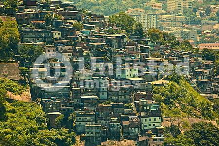 Favela or slum seen from Corcovado