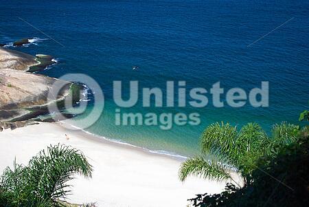 Crystalline desert beach in Niteroi, Rio de Janeiro, Brazil