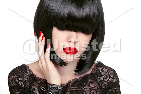 Makeup Fashion Bob Haircut Hairstyle Long Fringe Short Hair