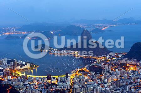 Rio de Janeiro, Brazil - January 11, 2015: Panoramic from Corcovado moutain, Rio de Janeiro.