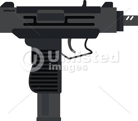 uzi submachine gun military rifle army and weapon automatic machine