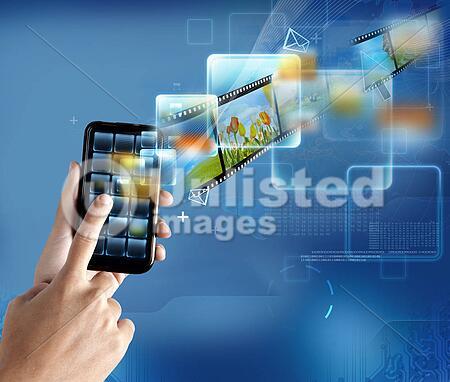 New technology on a modern smartphone