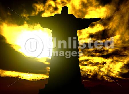 Famous statue of the Christ the Reedemer, in Rio de Janeiro, Brazil