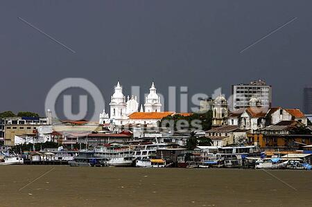 Boats on the river Guama. Belem, Brazil