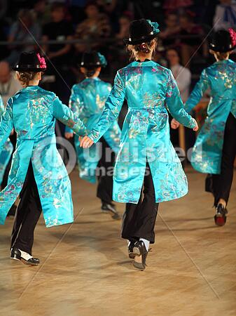 moscow may 4 back of girls wearing blue clothing dance step a